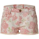 CURRENT ELLIOTT Red Rose Print Boyfriend Short - shorts