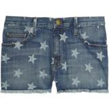 Current/Elliott The Boyfriend star-print low-rise stretch-denim shorts - shorts