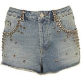 MOTO Gold Stud Denim Hotpants - shorts