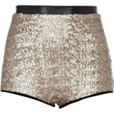 River Island Gold Sequin Knicker Shorts - shorts