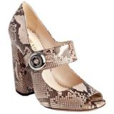Prada Powder Snakeskin - Women's Platform Pumps