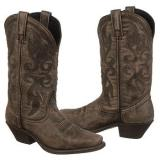 Laredo  Women's 51040   Black-Tan Crackle - Womens Boots