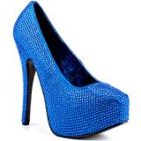 Viva Bordello Biggest Little City - Royal Blue - Women's Platform Pumps
