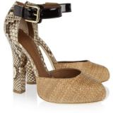 Dolce & Gabbana Raffia and python pumps - Women's Platform Pumps