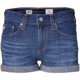 ADRIANO GOLDSCHMIED Blue Denim Roll-Up Pixie Shorts - shorts