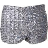 Glamorous Sequin Cut Off Shorts - shorts
