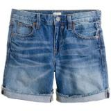 Denim short in faded indigo - shorts