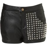 Black Studded Shorts - shorts
