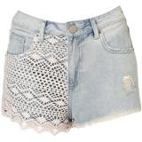 MOTO Bleach Crochet Hotpants - shorts