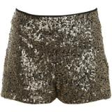 Gold Sequin Shorts - shorts