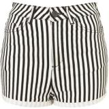 MOTO Washed Stripe Hotpants - shorts