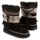 Muk Luks  Women's Ricki Short Boot   Ebony - Womens Boots