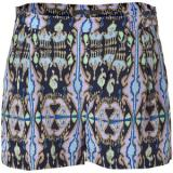 TIBI Navy Multicolor Printed Silk Shorts - shorts