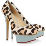 Charlotte Olympia Polly calf hair and leather pumps - Women's Platform Pumps