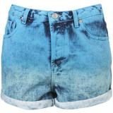 MOTO Dip Dye Denim Hotpants - shorts