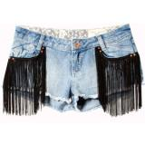 Pull & Bear Denim Shorts With Fringing - shorts