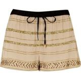 River Island Light Beige Sequin Embellished Shorts - shorts