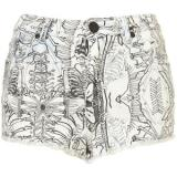 MOTO Bone Print Hotpants - shorts