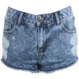 Distressed Effect High Waist Shorts - shorts | შორტები | shortebi