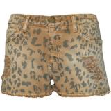 Current/Elliott Boyfriend Leopard Print Shorts - shorts